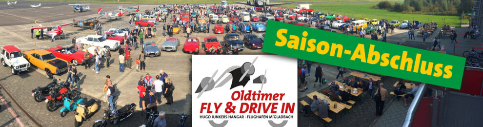 Saisonabschluss: OLDTIMER FLY & DRIVE IN am 26. September 2021